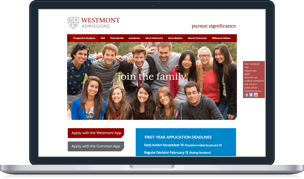 Westmont Admissions